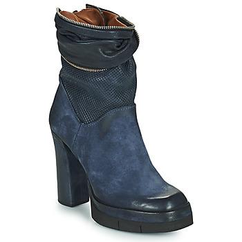 Chaussures Femme Bottines Airstep / A.S.98 BLOC ZIP Bleu