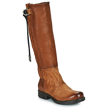 Chaussures Femme Bottes ville Airstep / A.S.98 SAINTEC HIGH Camel