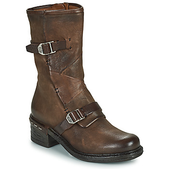 Chaussures Femme Bottines Airstep / A.S.98 NOVASUPER BUCKLE Marron
