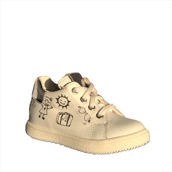 Chaussures Fille Baskets montantes Bopy Bamba Blanc