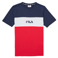 Vêtements Fille T-shirts manches courtes Fila TEKANI Rouge / Marine