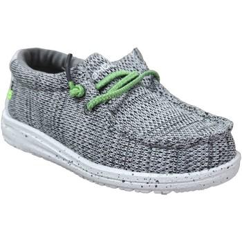 Chaussures Garçon Baskets basses Dude Wally kids sox Gris toile