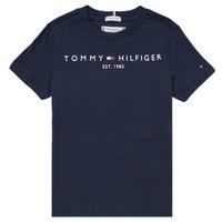 Vêtements Garçon T-shirts manches courtes Tommy Hilfiger SELINERA Marine