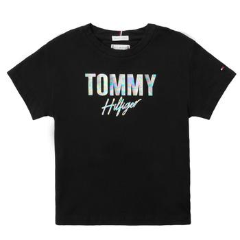 Vêtements Fille T-shirts manches courtes Tommy Hilfiger SAMIA Noir