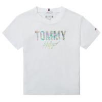 Vêtements Fille T-shirts manches courtes Tommy Hilfiger SAMIA Blanc