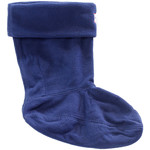 Chaussettes Hunter Kids Navy Fleece Welly Socks