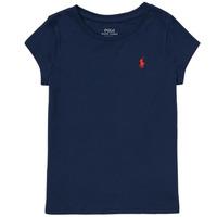 Vêtements Fille T-shirts manches courtes Polo Ralph Lauren DRETU Marine