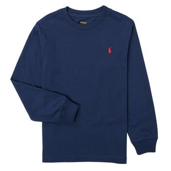 Vêtements Garçon T-shirts manches longues Polo Ralph Lauren KEMILO Marine