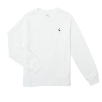 Vêtements Garçon T-shirts manches longues Polo Ralph Lauren KEMILO Blanc