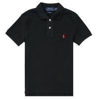 Vêtements Garçon Polos manches courtes Chemise Cintree Slim Fit En HOULIA Noir