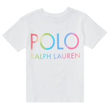 Vêtements Fille T-shirts manches courtes Polo Ralph Lauren FERILO Blanc