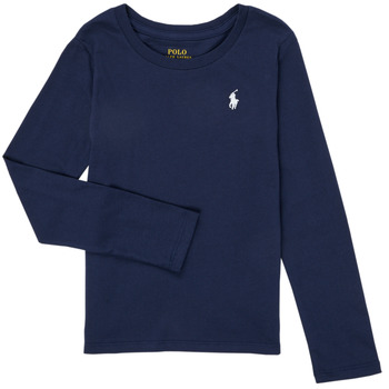 Vêtements Fille T-shirts manches longues Polo Ralph Lauren TENINA Marine