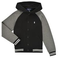 Vêtements Garçon Sweats Polo Ralph Lauren DENINO Noir / Gris