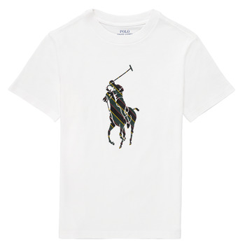 Vêtements Garçon T-shirts manches courtes Polo Ralph Lauren GUILIA Blanc