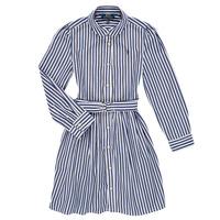 Vêtements Fille Robes courtes Polo Ralph Lauren LIVIA Marine / Blanc