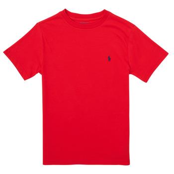 Vêtements Garçon T-shirts manches courtes Polo Ralph Lauren FOLLIA Rouge