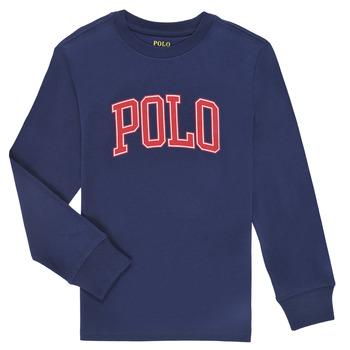 Vêtements Garçon T-shirts manches longues Polo Ralph Lauren METIKA Marine