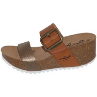 Chaussures Femme Sandales et Nu-pieds Pepe jeans Compensées  Tyron Rose Ref 53046 Brown Marron