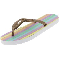 Chaussures Fille Tongs Culture Sud Tiranagirl tong  rayee Beige