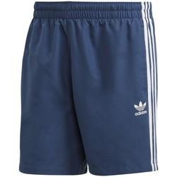 Vêtements Homme Shorts / Bermudas adidas Originals 3 Stripe Swims Bleu