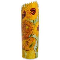 Maison & Déco Vases, caches pots d'intérieur Muzeum Vase en céramique silhouette Van Gogh - Tournesols Jaune