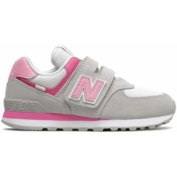 Chaussures Fille Baskets basses New Balance 574 Blanc, Gris