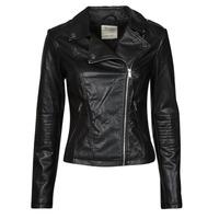 Vêtements Femme Vestes en cuir / synthétiques Esprit PU BIKER Noir