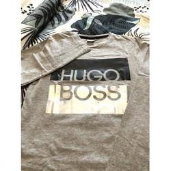 Vêtements Femme T-shirts manches longues HUGO TEE shirt Hugo Boss Gris