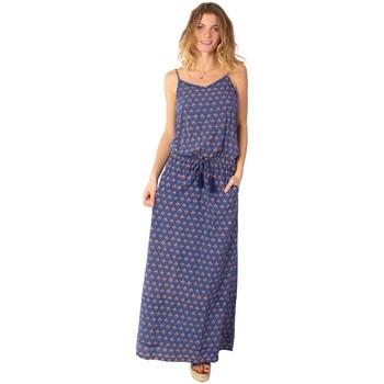 Vêtements Femme Robes longues Coton Du Monde Alba 22 Marine