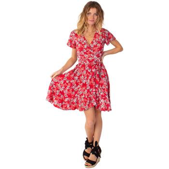 Vêtements Femme Robes courtes Coton Du Monde Marika 8 Rouge