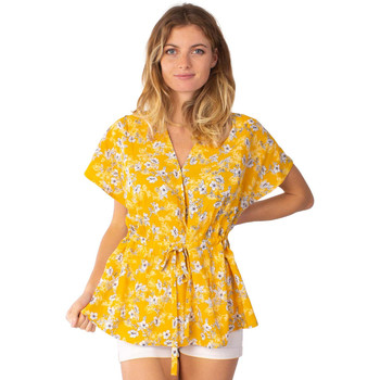 Vêtements Femme Tops / Blouses Coton Du Monde Solae 8 Jaune