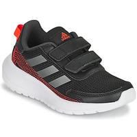 Chaussures Garçon Running / trail adidas Performance TENSAUR RUN C Noir / Rouge