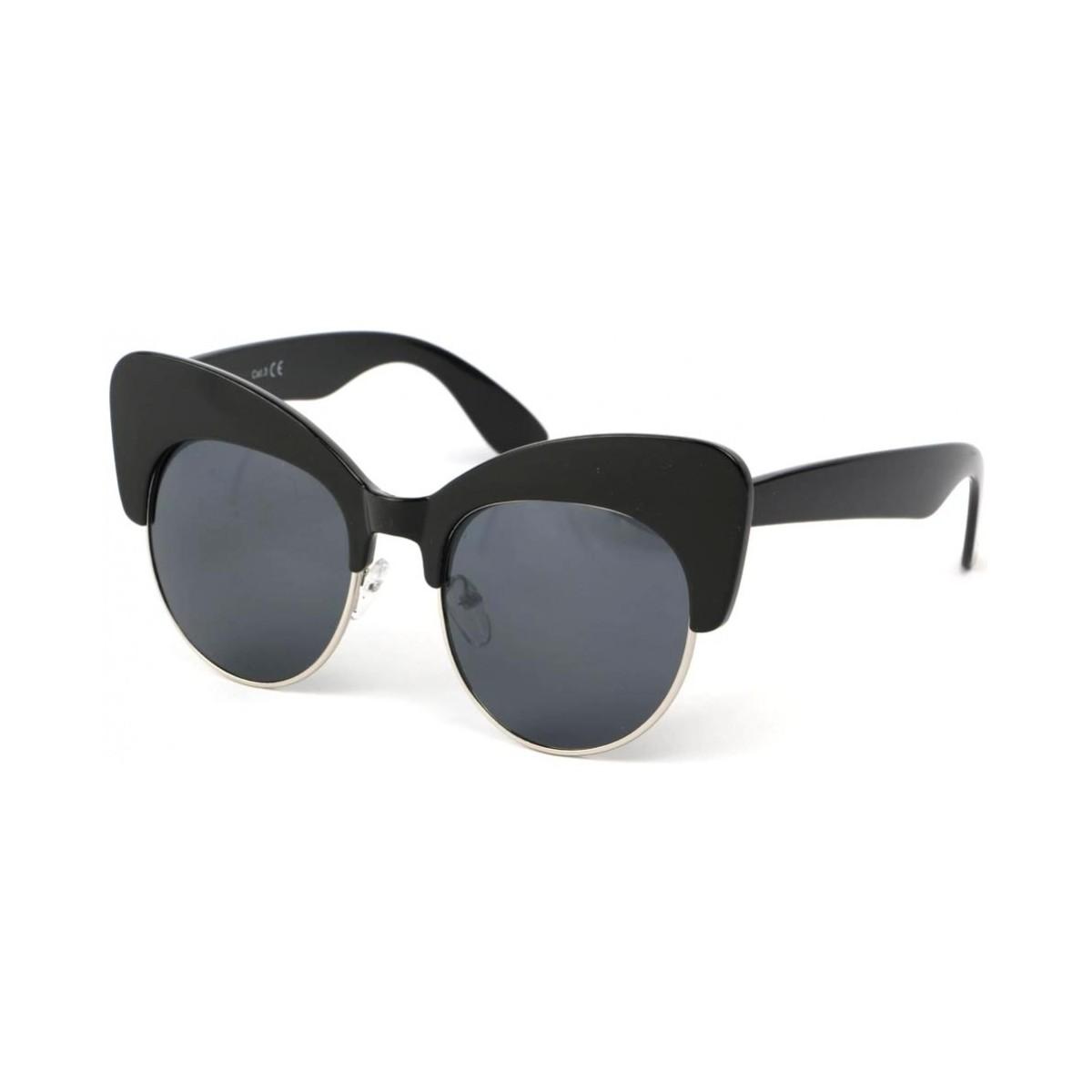 Eye Wear Lunettes Soleil Maryline avec monture noire Noir