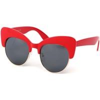 Montres & Bijoux Femme Lunettes de soleil Eye Wear Lunettes Soleil Maryline avec monture Rouge Rouge