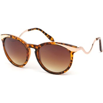 Montres & Bijoux Femme Lunettes de soleil Eye Wear Lunettes Soleil Zaza avec monture écaille marron Marron