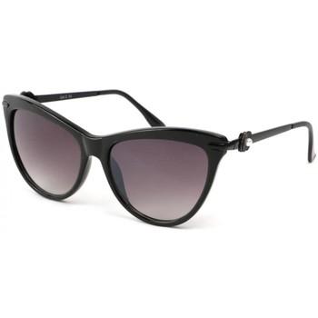 Montres & Bijoux Femme Lunettes de soleil Eye Wear Lunettes Soleil Wave avec monture noire Noir