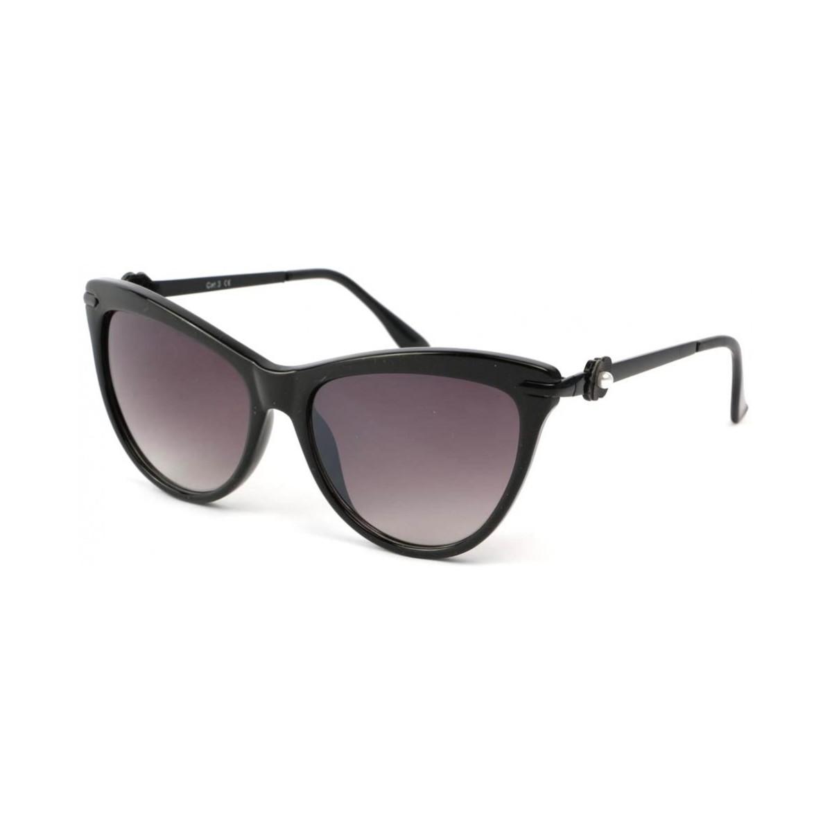 Eye Wear Lunettes Soleil Wave avec monture noire Noir