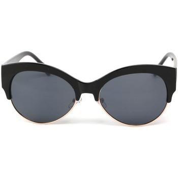 Montres & Bijoux Femme Lunettes de soleil Eye Wear Lunettes Soleil Icare avec monture noire et dorée Noir