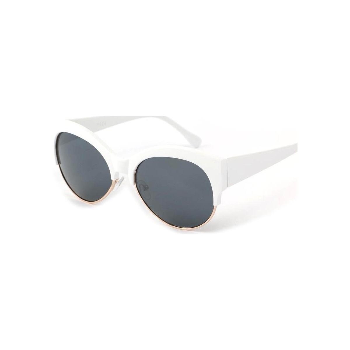 Eye Wear Lunettes Soleil Icare avec monture blanche Blanc