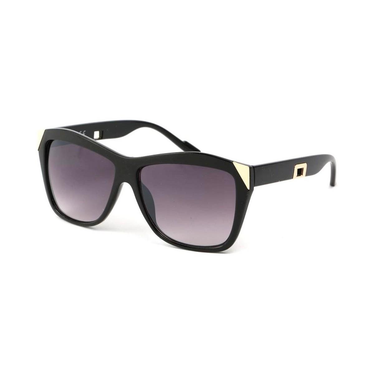 Eye Wear Lunettes Soleil Donna avec monture noire et dorée Noir