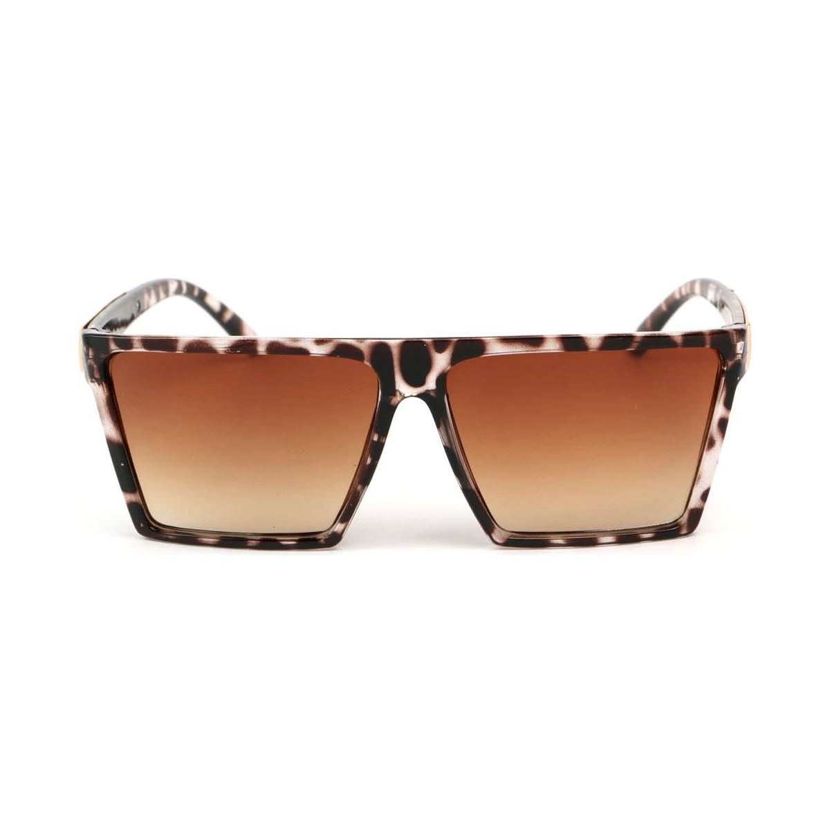Eye Wear Lunettes Soleil Cuba avec monture Leopard Marron