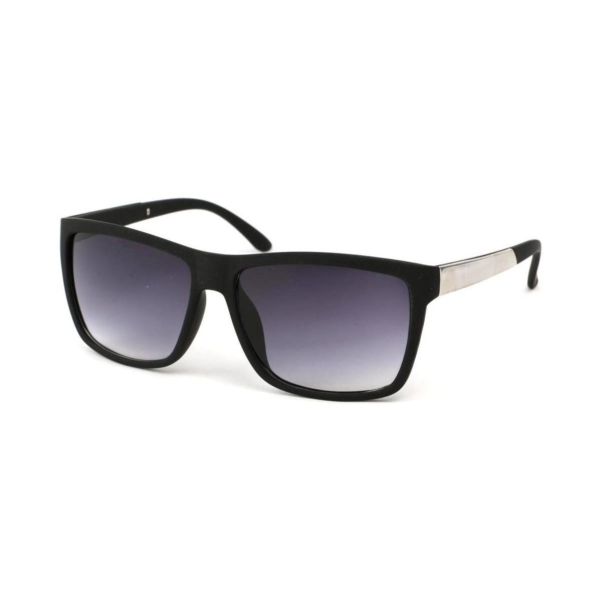 Eye Wear Lunettes Soleil Blue avec monture Noire et argentée Noir