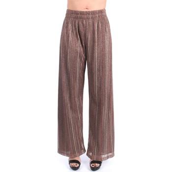 Vêtements Femme Pantalons fluides / Sarouels Momoni Momonì TRAPANI Patte Femme Bronze Bronze