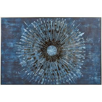 Maison & Déco Tableaux, toiles Novatrend ORBITE Bleu nuit
