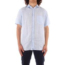 Vêtements Homme Chemises manches courtes Trussardi 52C00213 1T002248 BLEU
