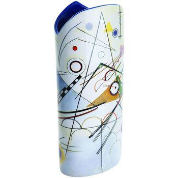 Maison & Déco Vases, caches pots d'intérieur Muzeum Vase en céramique silhouette Kandinsky - Composition VIII Jaune