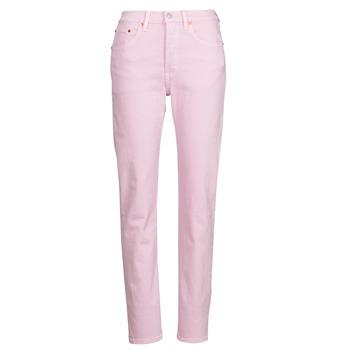 Vêtements Femme Jeans boyfriend Levi's 501 CROP Rose