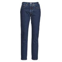 Vêtements Femme Jeans boyfriend Levi's 501 CROP Bleu