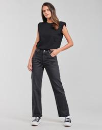 Vêtements Femme Jeans droit Levi's RIBCAGE STRAIGHT ANKLE Gris foncé