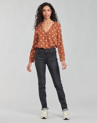 Vêtements Femme Jeans droit Levi's 725 HIGH RISE STRAIGHT Noir
